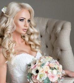 Bridal ~ ۷ıŋɬąɠɛ ცɛƖƖɛʂ & ɖཞɛąɱყ ɖཞɛʂʂɛʂ by SamanthaSerena on We Heart It Blonde Bridal Hair, Bridal Hair Down, Bridal Beauty, Wedding Beauty, Wedding Hair And Makeup, Bridal Makeup, Bride Hairstyles, Down Hairstyles, Perfect Bride