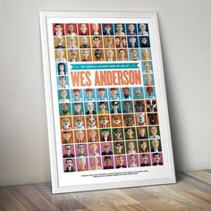 This poster illustrates 76 different characters from across the Wes Anderson universe! The films featured include: Bottle Rocket, Rushmore, The