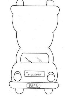 Parkeerschijf voor auto is een knutselidee uit de categorie Vaderdag
