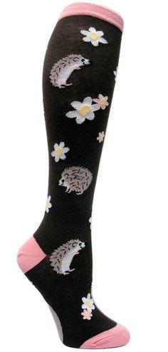 hedgehogsandthings: Womens Happy Hedgehog Knee Socks by Modsock. Knee High Socks, Ankle Socks, Best Business Casual Outfits, Over The Knee Boot Outfit, Cute Socks, Awesome Socks, Trouser Socks, Crazy Socks, Funky Socks