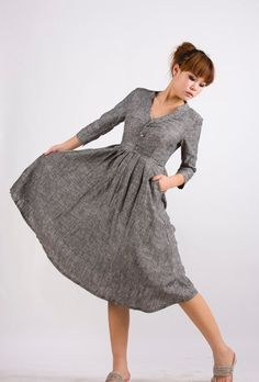 love this dress - its grey, long, and SUPER cute!