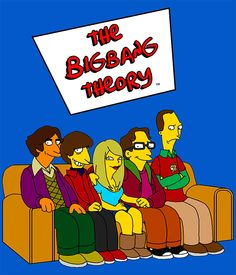 Camiseta chica The Big bang Theory. Simpsons