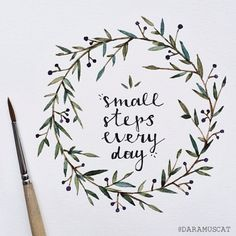 Take things one step at a time. Each of those little steps will help you get closer to your goal! #inspirational #motivational