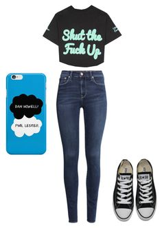 """""""Untitled #248"""" by kyleruniverse on Polyvore featuring H&M, Converse and United Couture"""