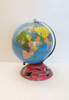 Vintage Tin Globe