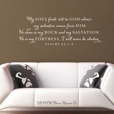 My soul finds rest in God alone - Vinyl Wall Decal Scripture Verse Vinyl Lettering Sticker