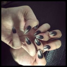 Unhuman.  #gothnails #goth #gothic #devil #devildom #blacknails #gothgoth #unhuman #inthink