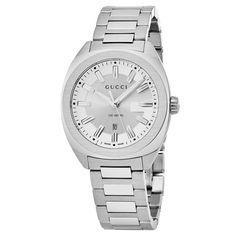 cd6142e5bb6 Details about Gucci YA142402 Men s GG2570 Silver Quartz Watch