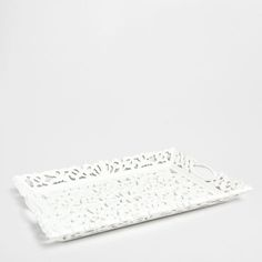 Openwork White Tray - Trays - Tableware | Zara Home United Kingdom