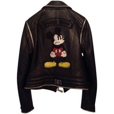 Pre-owned Leather jacket (2 135 AUD) ❤ liked on Polyvore featuring outerwear, jackets, tops, coats & jackets, philipp plein jacket, philipp plein, 100 leather jacket, leather jackets and genuine leather jackets