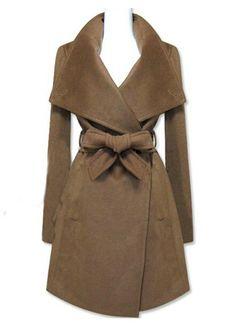 Shop Brown Long Sleeve Shawl Collar Self Tie Duffle Coat online. SheIn  offers Brown Long Sleeve Shawl Collar Self Tie Duffle Coat   more to fit  your ... 1b761a095e0e