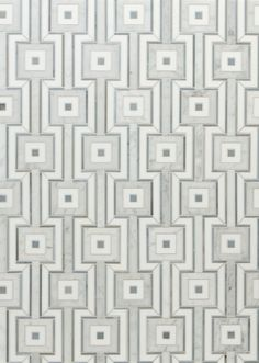 The Globetrotter pattern in Carrara and Cadet Blue from the Jet Set Collection by Walker Zanger