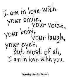 Adorable Cute Quotes about Love are the besy way to calm down your girlfriend, when she gets angry to you. send our cute love quotes to her to calm her down Cute Love Quotes, Love Quotes For Her, Romantic Love Quotes, Quotes For Loved Ones, Sayings About Love, Cute Sayings, Love Laugh Quotes, Sweetest Quotes, Romantic Ideas