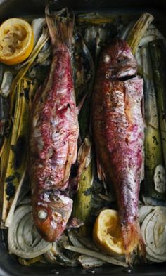 WHOLE RED MULLET with SUMMER VEGETABLES [Nigel Slater]. This is the style of photography I want to have in the book