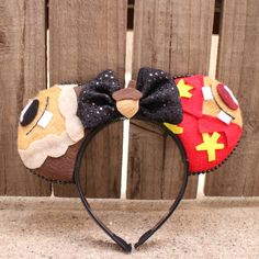 Chip and Dale-Inspired Mouse Ear Headband by ModernMouseBoutique