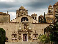 Poblet Monastery, entrance. Tarragona. Catalonia