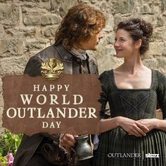 Share your love of #Outlander by tagging one of your friends in the comments! #WorldOutlanderDay @samheughan @caitrionabalfe