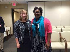 Juliana Grassia ('15) assists NC Secretary of State