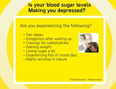 Is your #blood sugar levels making you depressed? watch the video to find out. Web-seminar by Adewale Ademuyiwa and Patrick Holford.