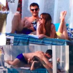 Dakota and Jamie filming honeymoon scenes in France today!