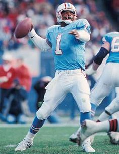 Warren Moon racked up nearly 50,000 passing yards in 17 NFL seasons. The first black NFL quarterback.