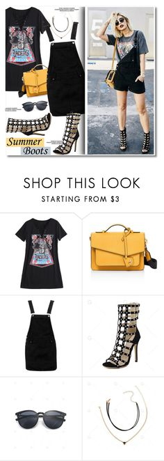 """""""Summer boots"""" by paculi ❤ liked on Polyvore featuring Botkier and Boohoo"""