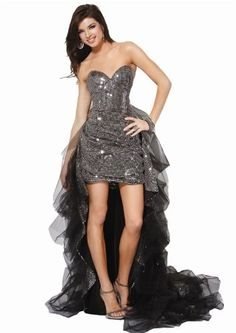 Jovani 9331, Glittering Cocktail Dress With Sheer Train « StylishAndAccessories.com