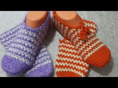 Tığ işi kolay patik yapımı - YouTube Baby Knitting Patterns, Baby Booties, Fingerless Gloves, Arm Warmers, Slippers, Socks, Youtube, Fashion, Loafers & Slip Ons
