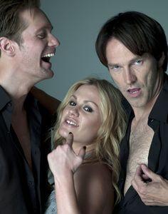 Alexander Skarsgard, Anna Paquin and Stephen Moyer ~ True Blood