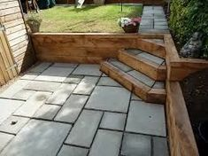 Image result for sleeper retaining walls how to build #backyardbenchgarden