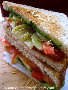 Few Minute Wonders: Chaat Sandwiches In 20 Minutes: My Take On Bombay Sandwiches