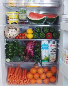 how to organize refrigerator oranges and carrots in refrigerator