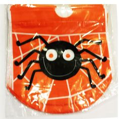 Cute Spider Drawstring Candy Plastic Bags x 8 Pcs Halloween Party Supplies, Plastic Bags, Pin Badges, Spider, Candy, Cute, Plastic Carrier Bags, Sweet, Toffee
