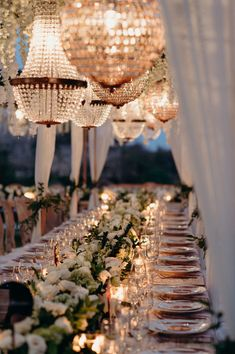 Inspiration for a glam outdoor wedding - just add classic floral touches, chic tableware and exquisite French rose gold chandeliers. Glamorous Wedding, Luxury Wedding, Elegant Wedding, Perfect Wedding, Dream Wedding, Wedding Day, Wedding Soup, Wedding Poses, Wedding Photoshoot