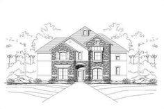 50x75European Style House Plan - 4 Beds 3.5 Baths 3923 Sq/Ft Plan #411-717 Exterior - Front Elevation - Houseplans.com