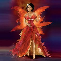 Fire - Fairies of Twilight Ashton Drake Doll Bradford Exchange - Burning Desires Gifts