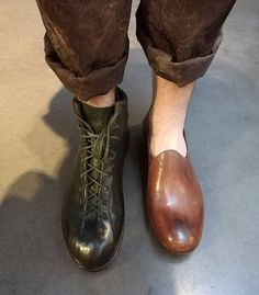 Two of my favorite shoes by Maurizio Altieri.  #maurizioaltieri #artisanal #handmade #shoemaker #italy #pfw #leclaireur #parishugo_c_a_m_