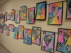 WHATS HAPPENING IN THE ART ROOM??  Heart Zentangles