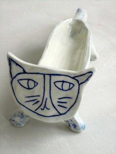 blue - cat - Paula Grief -  Ceramic
