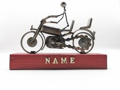 Personalised Motorcycle Gift | Home Decor | Table Art | Anniversary/Fathers Day Gift