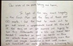 Passenger's Thank You Note to Pilot Proves We're All In This Together