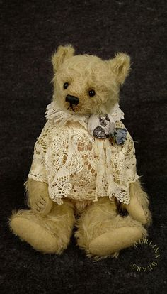 Shabby Billie One Of a Kind Mohair Artist Teddy от aerlinnbears