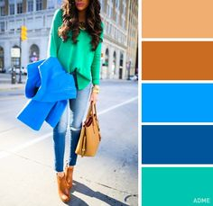 12 superb color combinations for your spring wardrobe - Cool Fashion Trends Colour Combinations Fashion, Color Combinations For Clothes, Fashion Colours, Colorful Fashion, Colour Schemes, Color Trends, Color Combos, Color Balance, Colourful Outfits