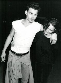 The 32 coolest celeb couples of all time: Johnny Depp and Winona Ryder - - Johnny Depp Winona Ryder, Young Johnny Depp, Junger Johnny Depp, Winona Forever, Fangirl, Aurelie Bidermann, Johny Depp, Colin O'donoghue, Hair Beauty