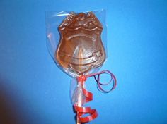 2  Dozen  Chocolate Lollipop Police Officer  Law by CANDYCRAFTS, $24.00
