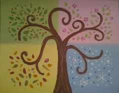 Four Seasons Tree, Family Paint Session Pawtucket, RI #Kids #Events