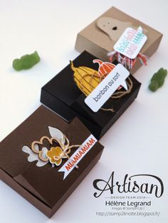 Stamp 2 LiNotte: 5 minute Treat Box with simply scored - Hélène LEGRAND - Stampin'Up ! Artisan Blog Hop - Septembre # 4