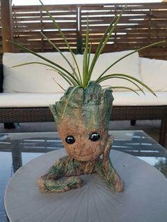 Baby Groot, Planter Pots, Art, Plant Pots