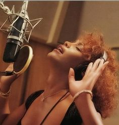 Whitney Houston ... getting it done