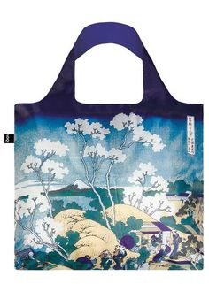 """#Bag# Tasche# Sac # Bolsa# A lovely landscape. Beautiful blossoms. A monumental Mount Fuji. Soak up this scenic scene from Hokusai's epic series, """"Thirty-Six Views."""""""